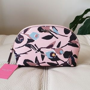 Kate Spade Cameron Paper Rose MD Dome Cosmetic Bag